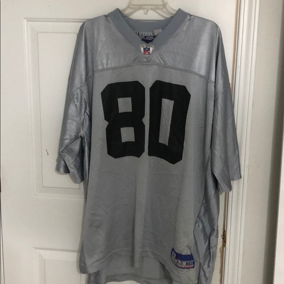 Jerry Rice #80 Silver Raiders Jersey